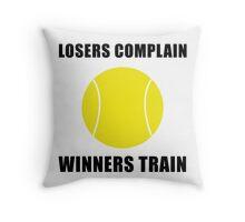 Tennis Winners Train Throw Pillow