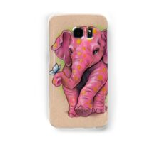 Pink Elephant (with golden spots) Samsung Galaxy Case/Skin