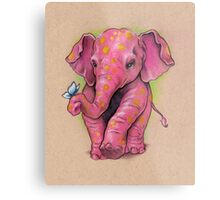 Pink Elephant (with golden spots) Metal Print