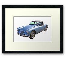 MG Convertible Sports Car Framed Print