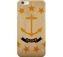 Rhode Island State Flag VINTAGE iPhone Case/Skin