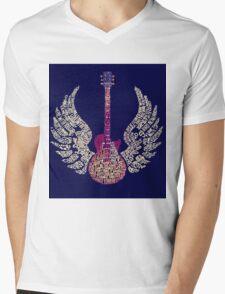 Lynyrd Skynyrd Free Bird Guitar Lyrics Mens V-Neck T-Shirt