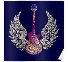 Lynyrd Skynyrd Free Bird Guitar Lyrics Poster