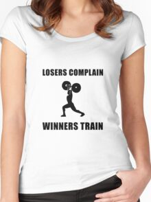 Weightlifting Winners Train Women's Fitted Scoop T-Shirt
