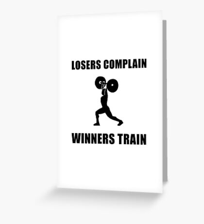 Weightlifting Winners Train Greeting Card