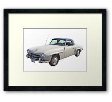 Mercedes Bens 300 sl Antique Car Framed Print