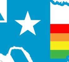 texas rainbow triangle Sticker