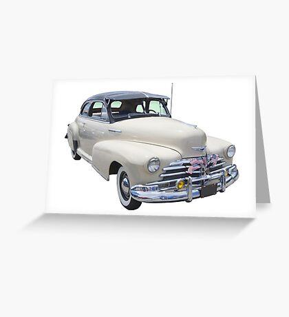 1948 Chevrolet Fleetmaster Antique Car Greeting Card