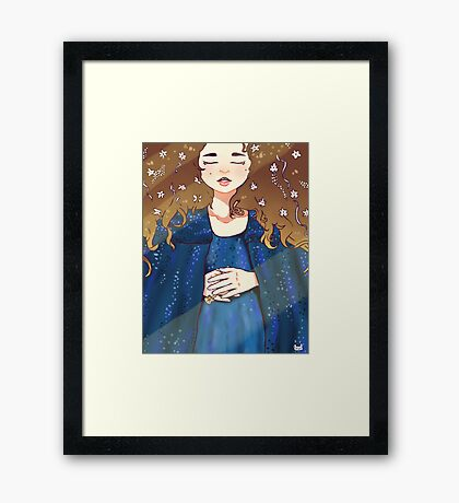 Padmé Amidala - Sleep Well. Framed Print