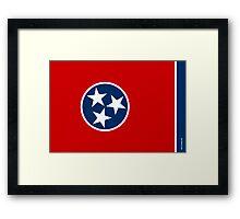 Tennessee State Flag Framed Print
