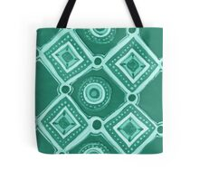 Cut Paper in Green Tote Bag