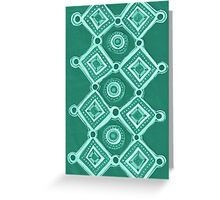 Cut Paper in Green Greeting Card