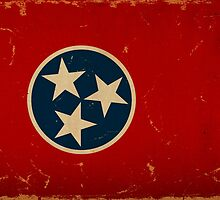 Tennessee State Flag VINTAGE by Carolina Swagger