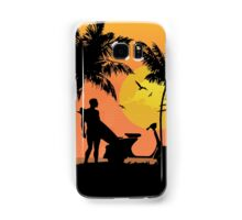 Surfer and scooter at Sunset Samsung Galaxy Case/Skin