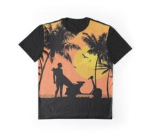 Surfer and scooter at Sunset Graphic T-Shirt
