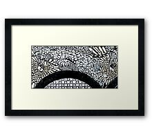 ancient mosaic Framed Print