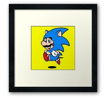 Super Hedgehog Framed Print