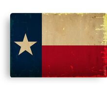 Texas State Flag VINTAGE Canvas Print