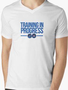 Training In Progress - Pokemon GO Mens V-Neck T-Shirt
