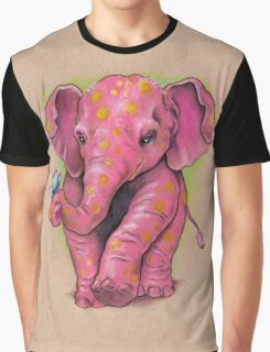 Pink Elephant (with golden spots) Graphic T-Shirt