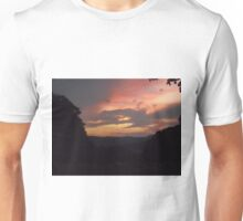 fiery sunset with cows Unisex T-Shirt
