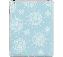 Simple doodle flower blue pattern. Seamless pastel abstract background.  iPad Case/Skin