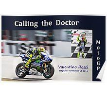 Valentino Rossi 300 kph winner Australia GP Poster
