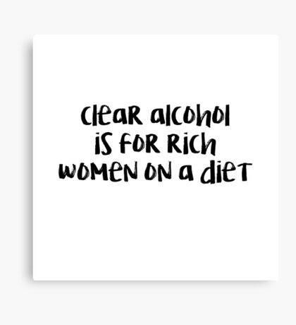 Clear Alcohol Ron Swanson Canvas Print