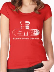 Leica Explore Dream Discover Women's Fitted Scoop T-Shirt