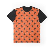 Halloween spiders diagonal pattern. Cute seamless background. Graphic T-Shirt