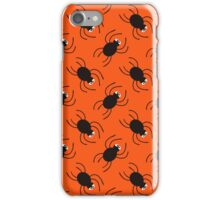 Halloween spiders diagonal pattern. Cute seamless background. iPhone Case/Skin