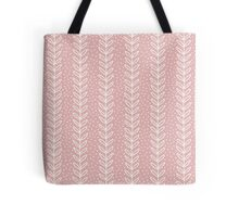 Simple leaf seamless pattern. Hand drawn pink background. Cute wallpaper. Tote Bag