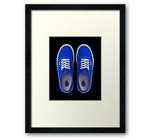 Vans - Blue Framed Print