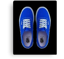 Vans - Blue Canvas Print