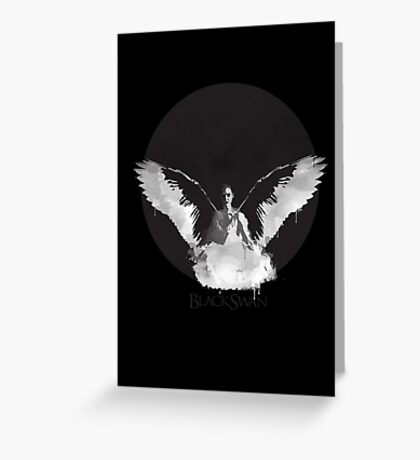 Black Swan- Nina Greeting Card