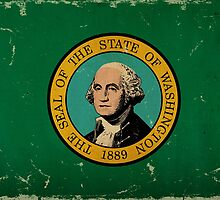 Washington State Flag VINTAGE by Carolina Swagger