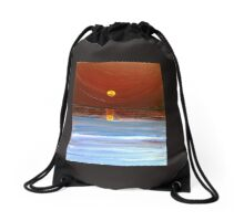 Red Sky at Night Drawstring Bag
