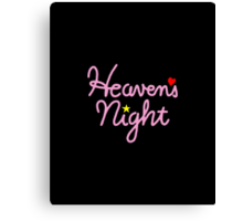 Heaven's Night Canvas Print
