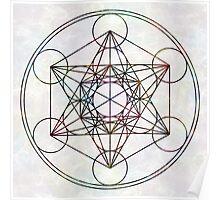 Metatron's Cube on White Poster