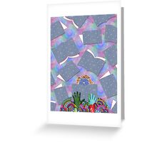 Books falling like raindrops on my soul Greeting Card