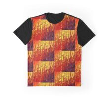 Dancing Flames In Red Hot Fire Graphic T-Shirt