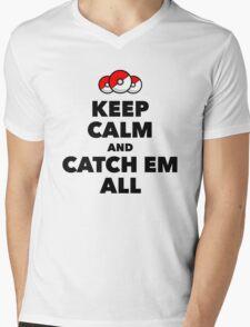 Pokemon GO - Keep Calm And Catch Em All Mens V-Neck T-Shirt
