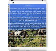 Desiderata #2 iPad Case/Skin