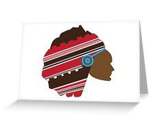 Head Dress Greeting Card