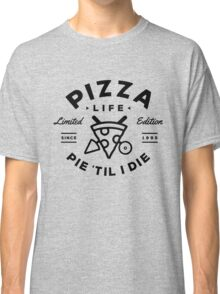Pizza Life - Black Print Classic T-Shirt