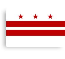Washington DC Flag Canvas Print
