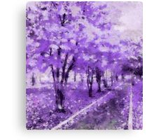 Violet walk.  Canvas Print