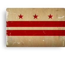 Washington DC Flag VINTAGE Canvas Print