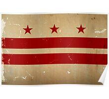 Washington DC Flag VINTAGE Poster