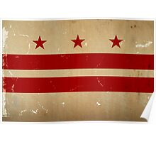 Washington DC Flag VINTAGE Poster